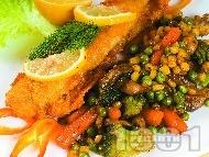 Панирана бяла риба по холандски